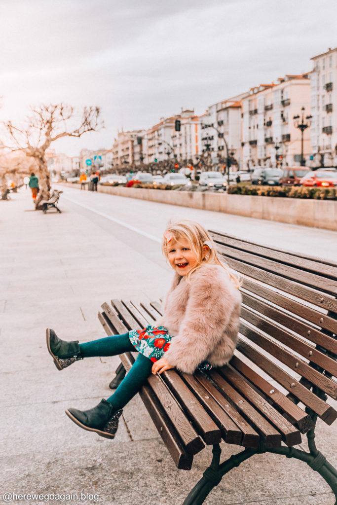 Santander with kids, promenade