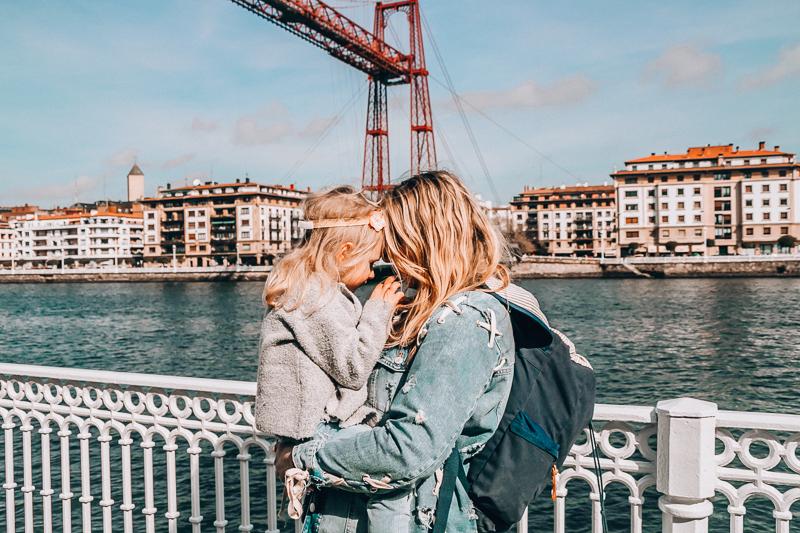 Vizcaya Bridge with kids