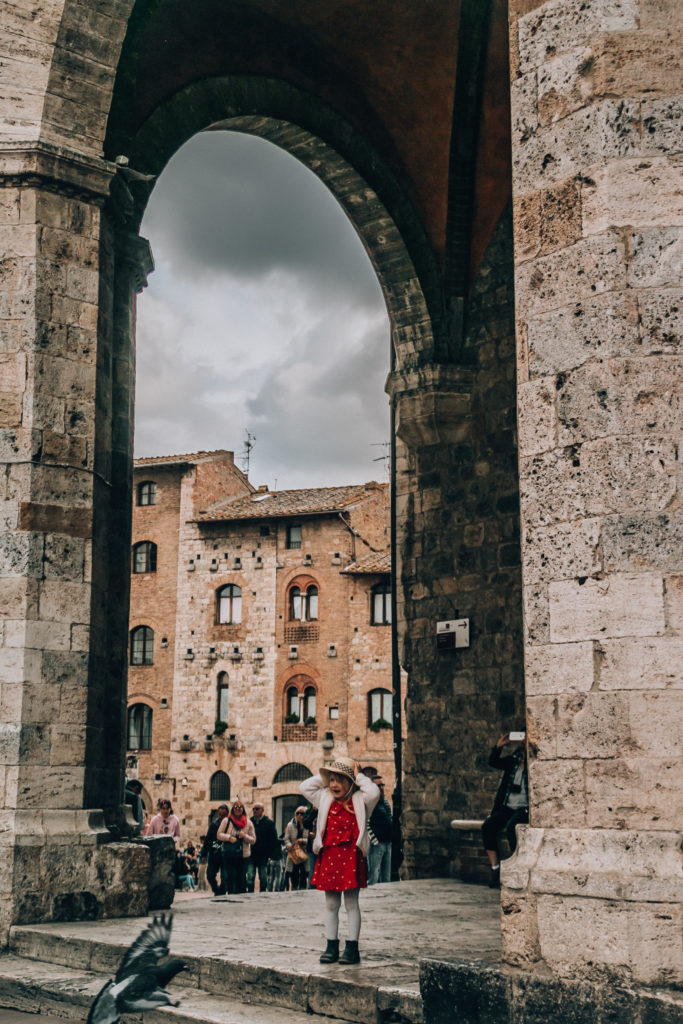 San Gimignano with kids