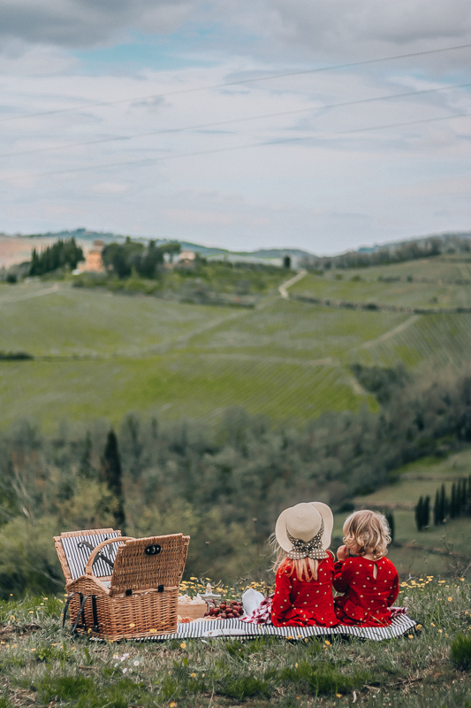 Tuscany with kids, picnic