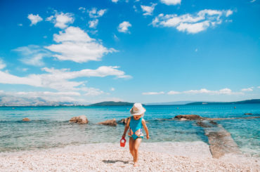 Croatia with kids, beach time