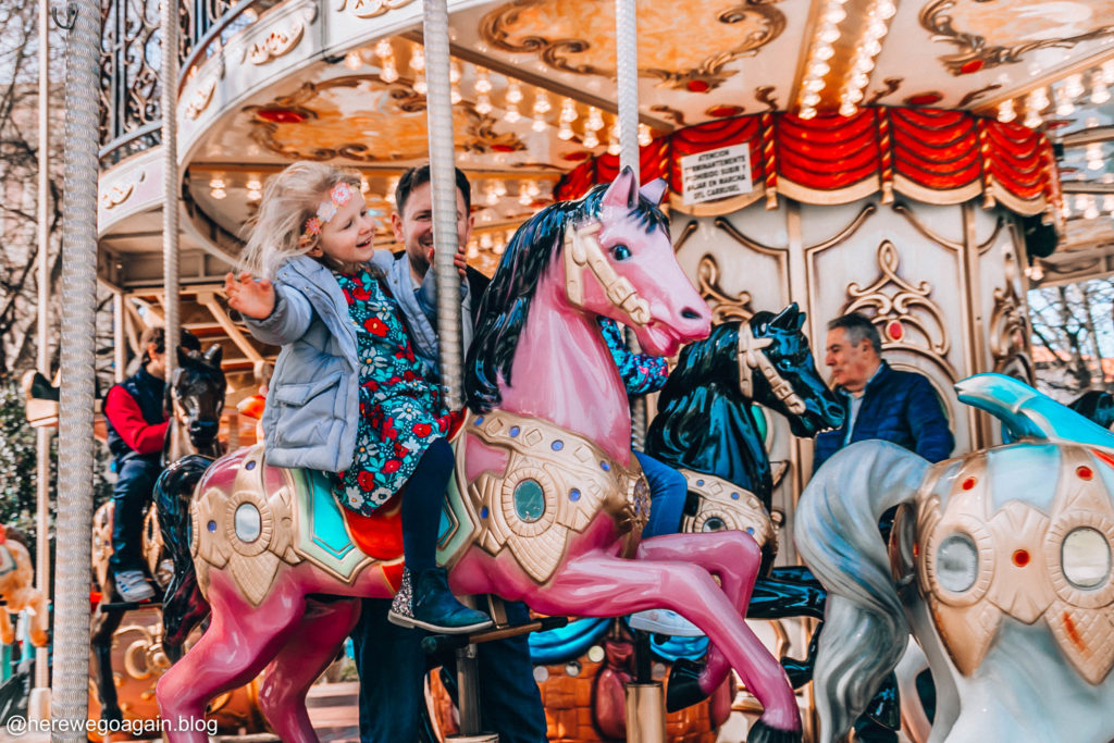 Santander with kids, carousel