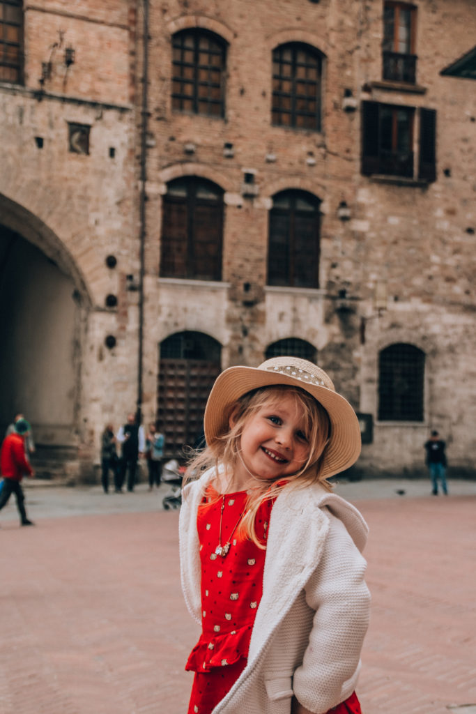 San Gimignano with kids