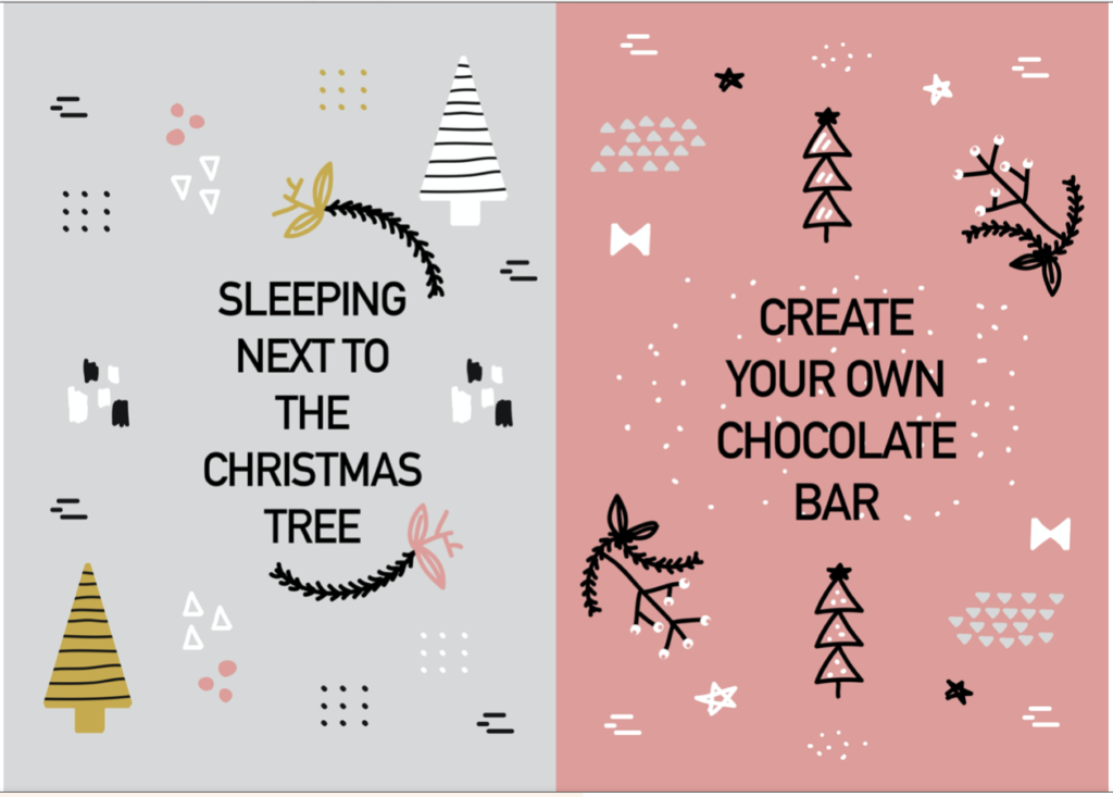 Christmas activity calendar