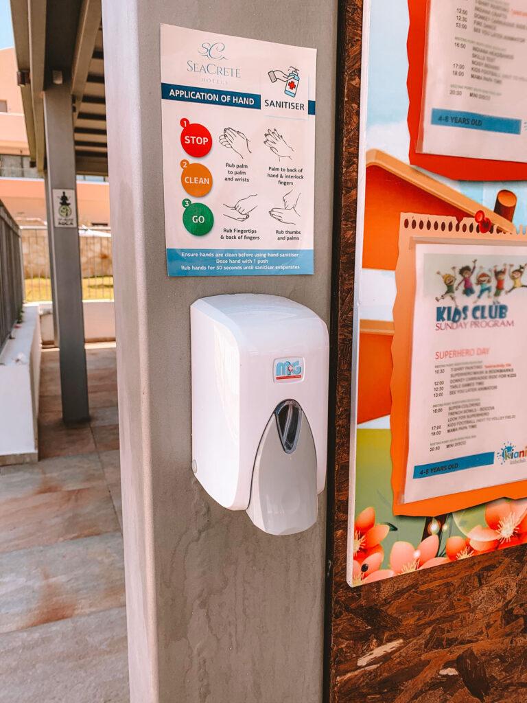 Kiani Beach Resort sanitizers